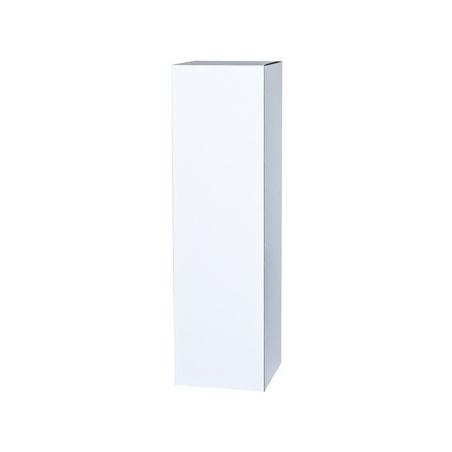 peana de cartón blanca 30 x 30 x 60 cm