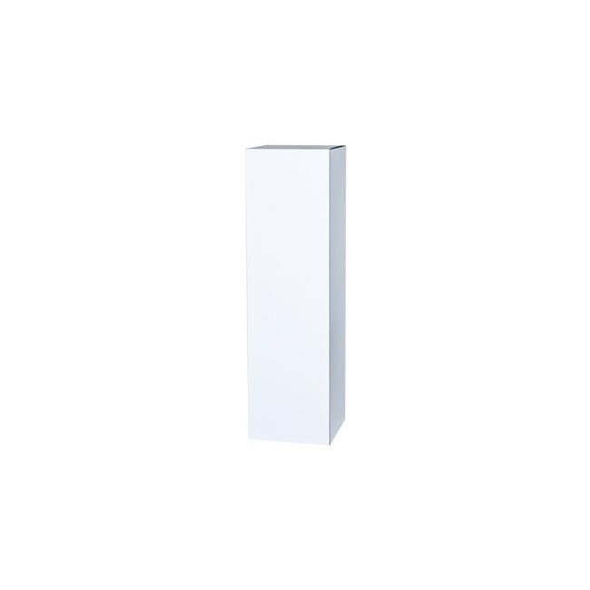 peana de cartón blanca 45 X 45 X 100 cm