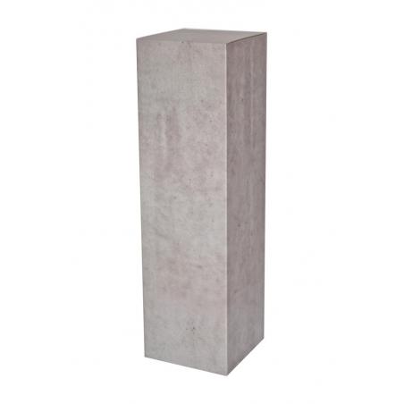 Peana de cartón con efecto hormigón, 28,5 x 28,5 x 100 cm