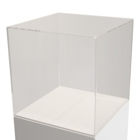 Urna vitrina de metacrilato 50 x 50 x 50 cm