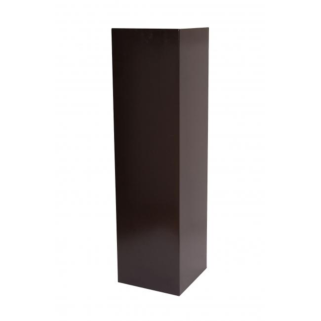 Peana negra, 30 x 30 x 100 cm