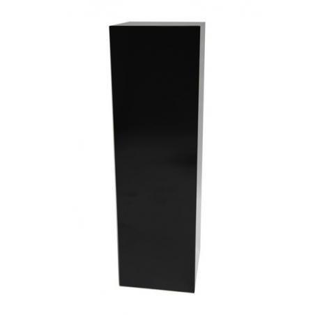Peana negra brillo, 40 x 40 x 100 cm