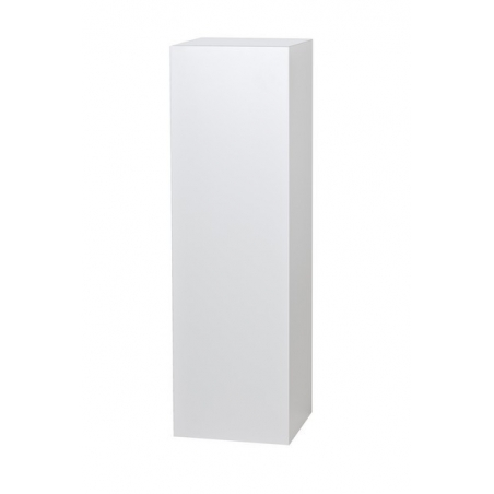 peana blanca, 25 x 25 x 115 cm