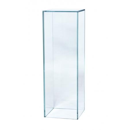 Peana de vidrio 25 x 25 x 100 cm