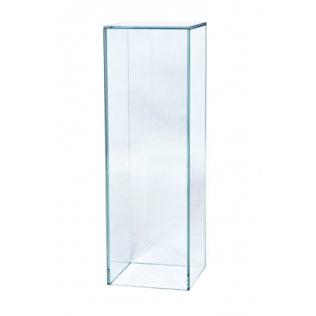 Peana de vidrio 30 x 30 x 60 cm