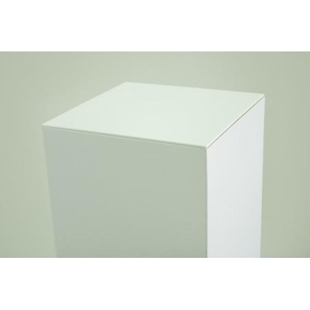 Placa 4mm metacrilato blanco, medidas 45,2 x 45,2 cm (para peanas de cartón)