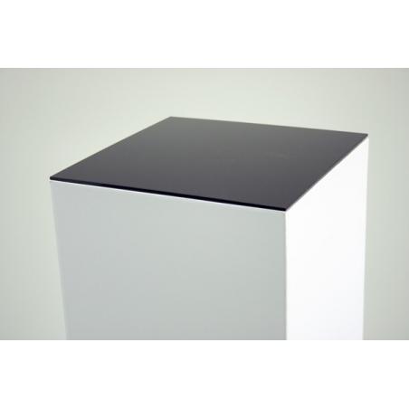 placa 4mm metacrilato negra, medidas 30,2 x 30,2 cm (para peanas de cartón)
