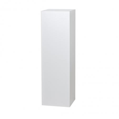 Peana blanca brillo 30 x 30 x 100 cm