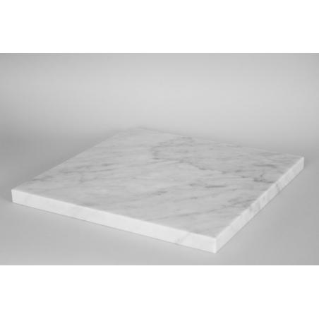 Parte superior con marmol blanco (Carrara, 20 mm), 40 x 40 cm