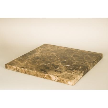 Parte superior con marmol cafe (Emparador negro, 20 mm), 40 x 40 cm