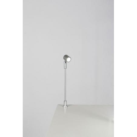 Foco LED, tipo 1, 216 mm, 1w, 6000K, plateado (cable eléctrico incluido)