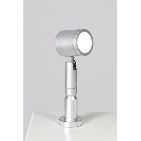 LED-Spot, Type 9 low model, 1W, Silver (inclusief stroomkabel)