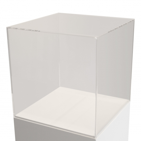 Urna vitrina de metacrilato 25 x 25 x 25 cm