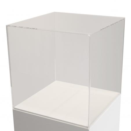 Urna vitrina de metacrilato 30 x 30 x 30 cm