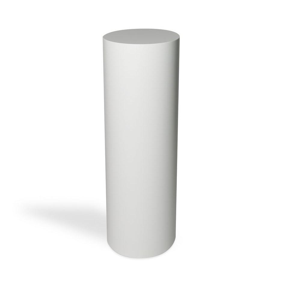Peana blanca redonda