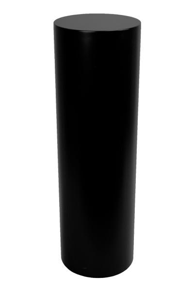 Peana redonda negro