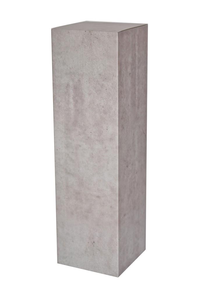 Peana de cartón con efecto hormigón